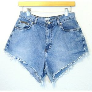 Vintage Calvin Klein High Cut Off Shorts Size 10